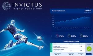 INVICTUS: Fino a 6 mesi di sconto su Invictus, l'advisor che ti suggerisce le schedine dei migliori scommettitori