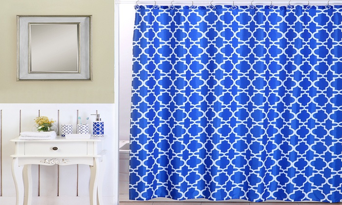 royal blue lattice bath set (18-piece) | groupon