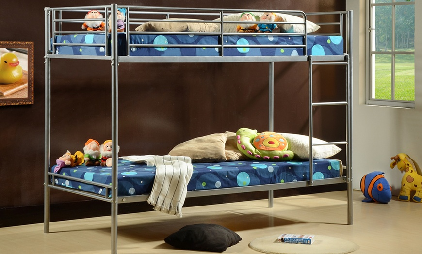 Astro Metal Bunk Bed with Two Optional Mattresses from £119.99 (59% OFF)