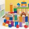 100-teiliges Holzblock-Spielzeug