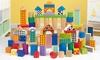 Groupon Goods Global GmbH:  100-teiliges Holzblock-Spielzeug-Set