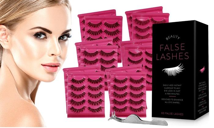 996de76886e Up To 33% Off on False Eyelashes Pack w/ Tweezers | Groupon Goods