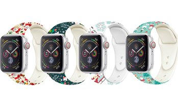 Christmas-Pattern Silicone Band for Apple Watch 1, 2, 3, 4, and 5