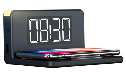 Despertador con carga inalámbrica de alta velocidad con luz