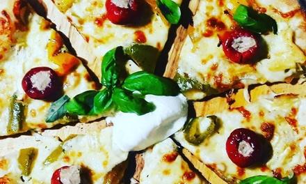 Menu pizza d'asporto con bibita