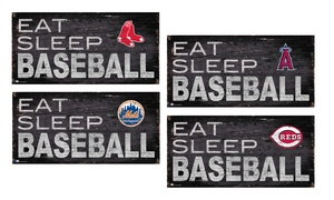 "Fan Creations MLB 6""x12"" Eat Sleep Baseball Sign"