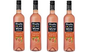 Four bottles of Fruit and Wine Grapefruit Rose 750ml each at Super Value Liquor Sherwood, plus 6.0% Cash Back from Ebates.
