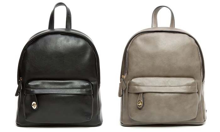 Sociology Faux Leather Backpack