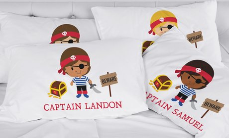 Boys' Personalized Character Pillowcase