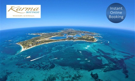 Rottnest Island: 1 to 3 Nights for Two with Breakfast, Wine and Ferry Transfers at Karma Rottnest