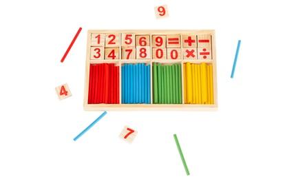 1 ou 2 sets d'apprentissage de calcul en bois inspiré de la méthode Montessori