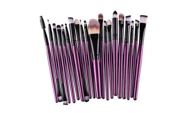 20 Piece Make Up Brush Set: One ($12) or Two ($19)