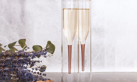 Thumbs Up Two Inside Out Champagne Flutes