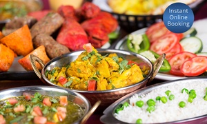 Curry Empire: Indian Meal with Glass of Wine for Two People: Two ($35) or Three Courses ($45) at Curry Empire (Up to 99.50 Value)