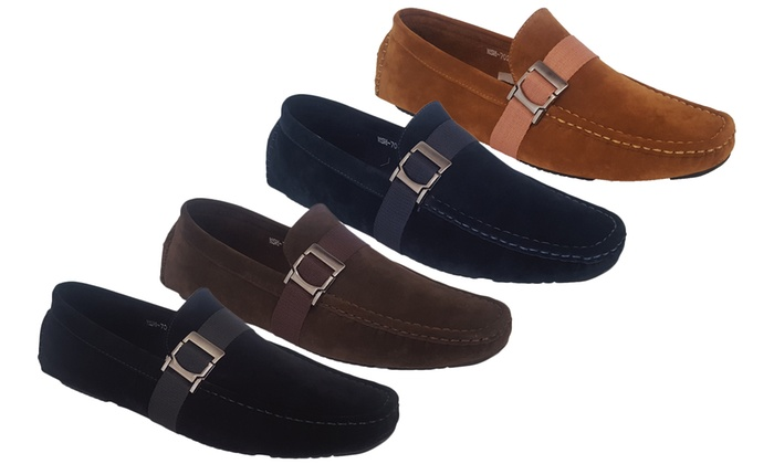 Men's Faux-Suede Slip-On Moccasins for £18.98