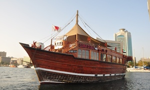 Lama Tours: Two-Hour Dhow Cruise with Dinner for One Child or Up to Four Adults with Lama Tours (Up to 53% Off)