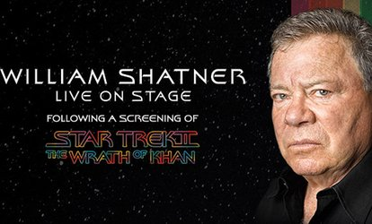 "image for Presale: William Shatner Live with a Screening of ""Star Trek II: The Wrath of Khan"" on September 23 at 5 p.m."