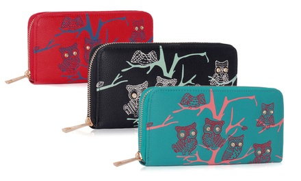 AllRound Zipped Owl Design Purse