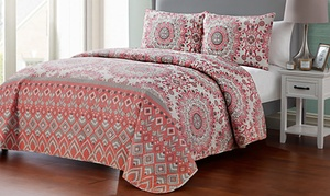 Reversible Patterned Quilt Set (3-Piece)