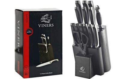 Viners Naxos 14-Piece Knife Block