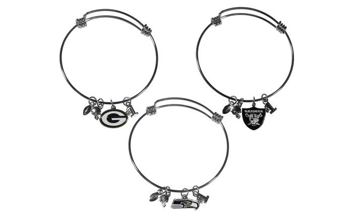 NFL Charm Bangle Bracelet