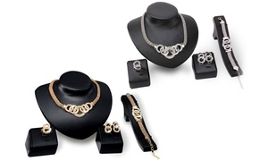 Set bijoux 4 pièces ornés de cristaux Swarovski®