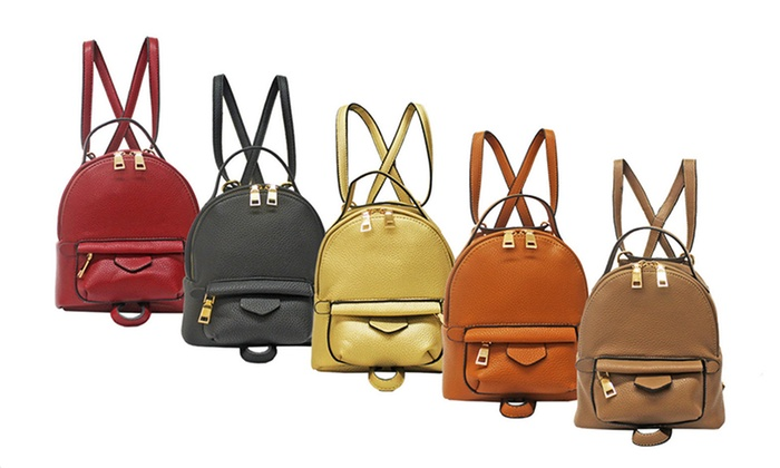 Two-in-One Mini Fashion Backpack and Cross-Body Bag