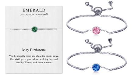 Philip Jones Birthstone Bracelet with Crystals from Swarovski®