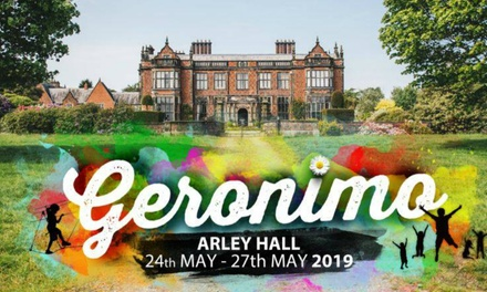 Geronimo Festival, Day Tickets with Optional Car Park Entry, 27 May 2019, Arley Hall, Northwich