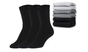 Everlast Men's Tube Crew Socks in Black, White, and Gray (18-Pair)