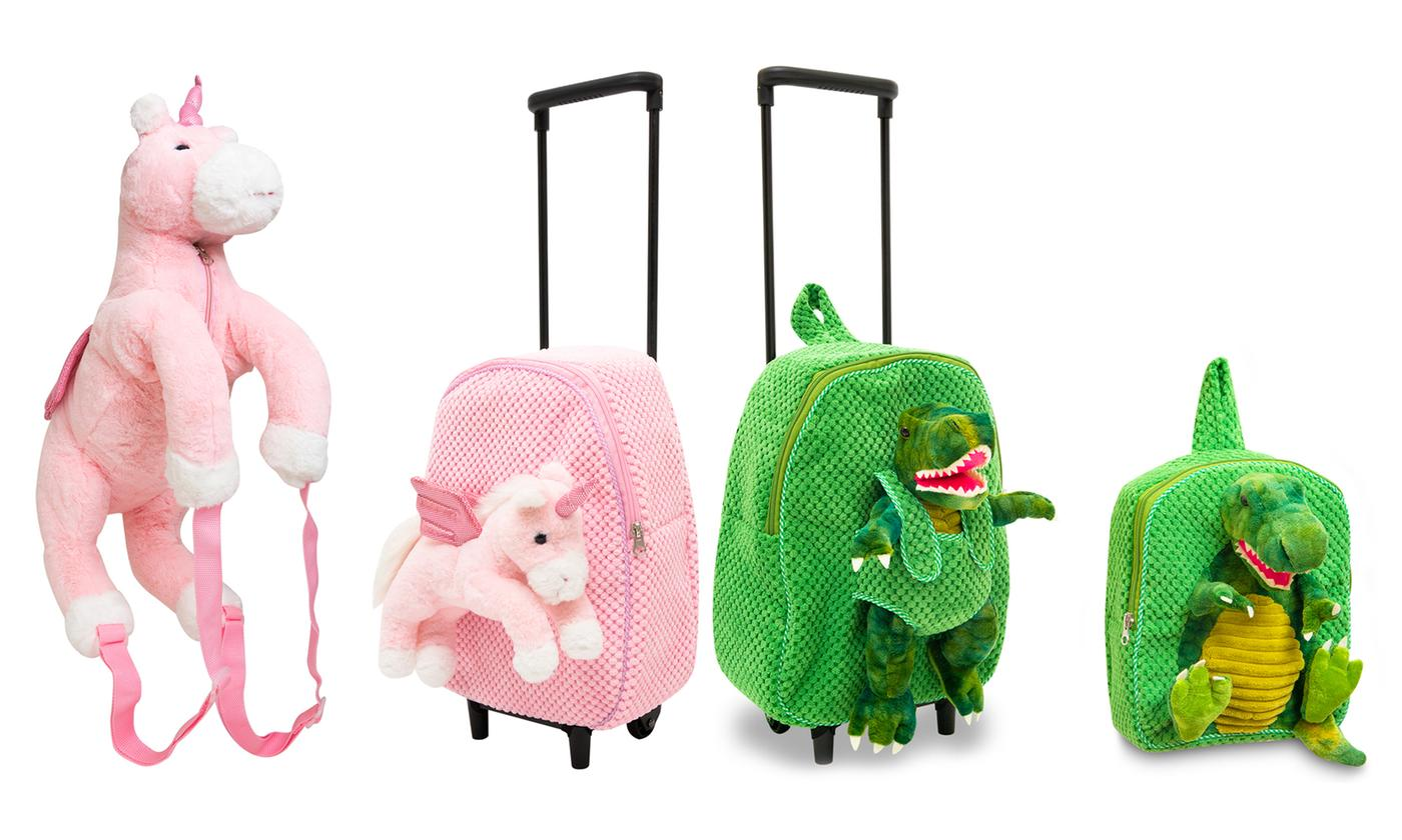 Plushie Backpack or Trolley with Plush Toy