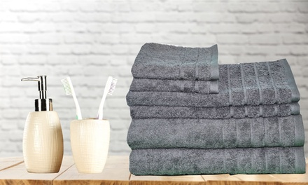 $35 for a SixPiece Egyptian Cotton Bath Towel Set in Choice of Colour Don't Pay $83.70