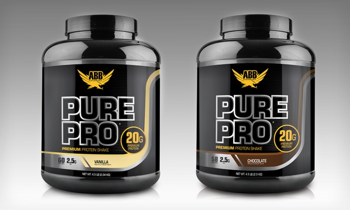 ABB Pure Pro Protein Powder: $44.99 for 4.5lbs of ABB Pure Pro Protein Powder in Chocolate or Vanilla ($70.99 List Price). Free Shipping.