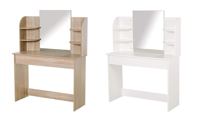 HomCom Dressing Table with Six Shelves for £97.99