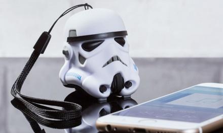 Altavoz bluetooth de bolsillo ultra portátil en forma de Stormtrooper