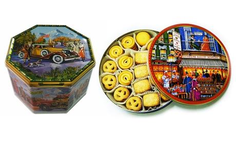 Caja redonda o exagonal de galletas danesa de 680g, 900g o 1800g