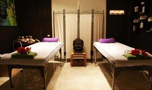 Testing Salud: Masaje en pareja con té o cava y bombón y opción a hidratación facial y corporal desde 24,95 € en Testing Salud