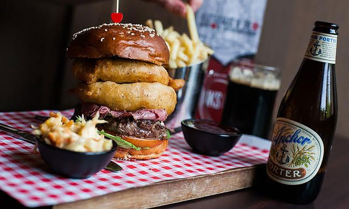 Tribeca Giffnock - Giffnock: Burger with Fries for Two or Four at Tribeca South (Up to 49% Off)
