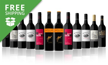 Free Shipping: $69 for a Case of 12 Mixed Bottles of Red Wine Including Yellow Tail Don't Pay $189
