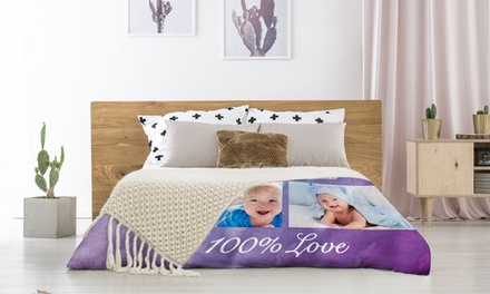 Personalized Large or XLarge Custom Fleece Photo Blankets from Printerpix (Up To 86% Off)