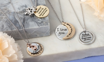Inscription Necklaces with Crystals from Swarovski® With Free Delivery