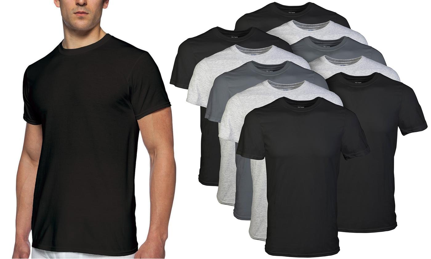 10-Pack Gildan Mens Crew Undershirts
