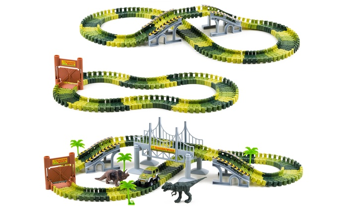 One or Two Dinosaur World Track Sets
