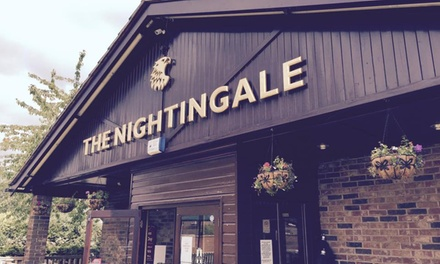 TwoCourse Meal and a Glass of Wine Each for Two or Four at The Nightingale Bicester
