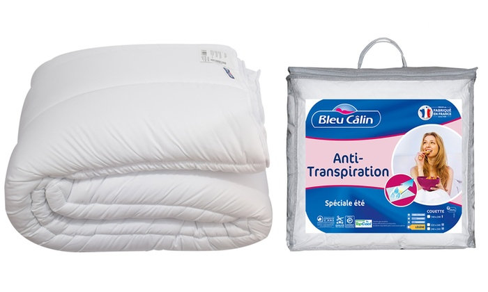 jusqu 39 33 couette l g re anti transpiration groupon. Black Bedroom Furniture Sets. Home Design Ideas
