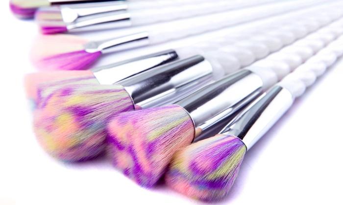 unicorn brush sets. groupon goods global gmbh: unicorn make up brushes: 5-piece (from brush sets 3
