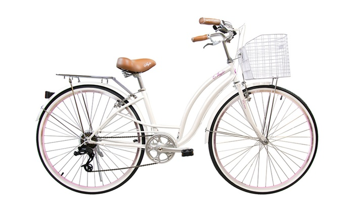 Alton USA Style Hi-Ten Steel Bicycle with Basket