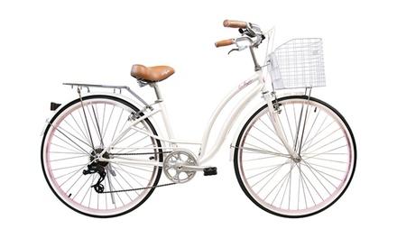 Alton USA Style Hi-Ten Steel Bicycle with Basket