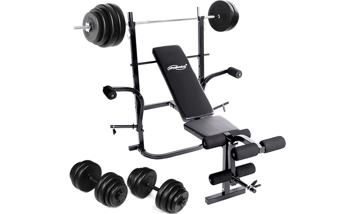 Weight bench set groupon Bench and weight set