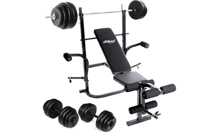Weight Bench with Barbell and Dumbbells Set for €159 With Free Delivery
